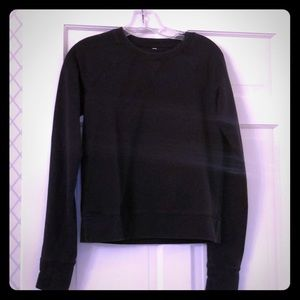 Lululemon black sweatshirt size 2